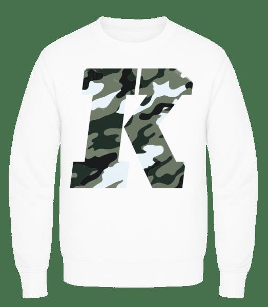 King Camouflage - Men's Sweatshirt AWDis - White - Vorn