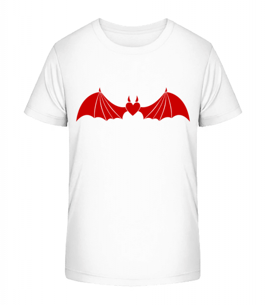 Devil Heart With Wings - Kid's Premium Bio T-Shirt - White - Front