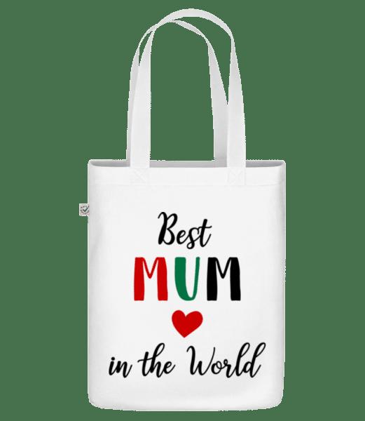 """Nejlepší máma In The World - Organická taška """"Earth Positive"""" - Bílá - Napřed"""