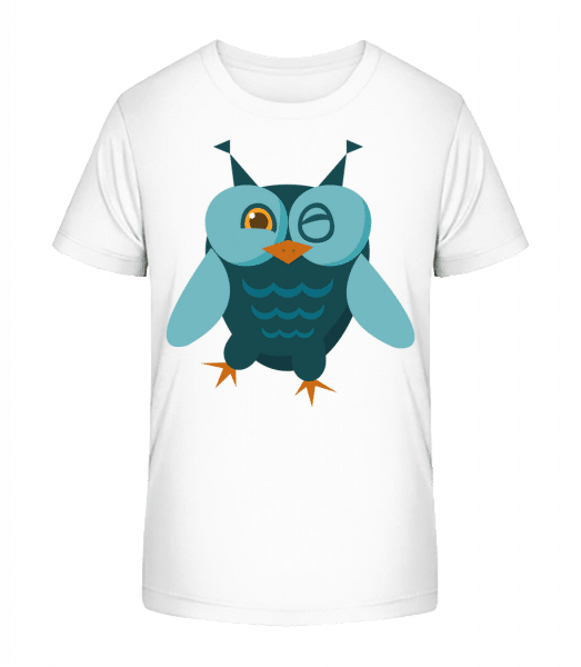 Owl Comic - Kid's Premium Bio T-Shirt - White - Vorn