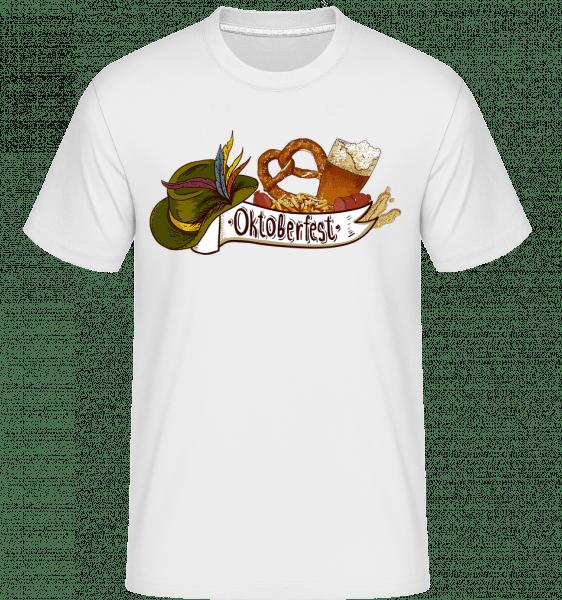 Oktoberfest - Shirtinator Männer T-Shirt - Weiß - Vorn