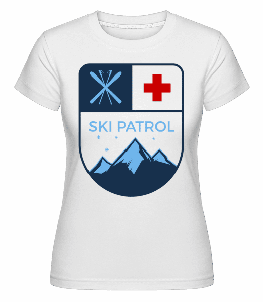 Ski Patrol Icon -  Shirtinator Women's T-Shirt - White - Vorn
