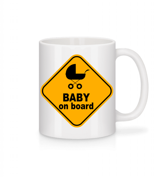 Baby On Board - Mug - White - Vorn