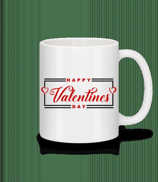 Happy Valentines Day - Mug - White - Vorn