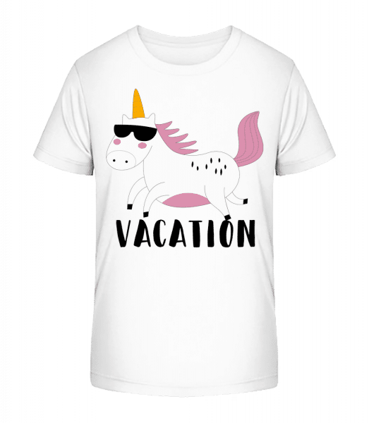 Vacation Unicorn - T-shirt bio Premium Enfant - Blanc - Devant