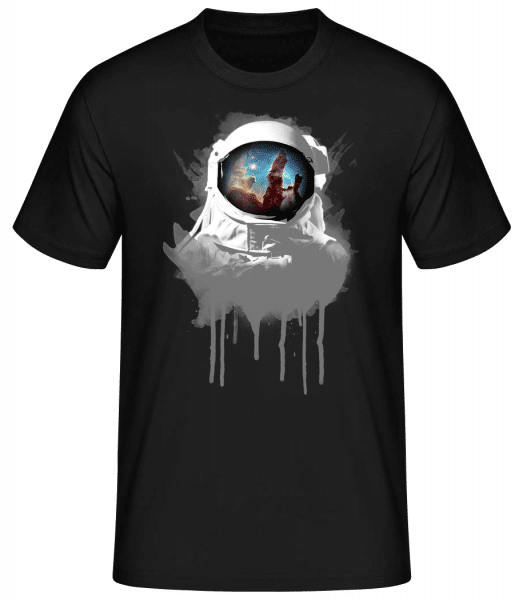 Astronaut - Basic T-Shirt - Černá - Predné