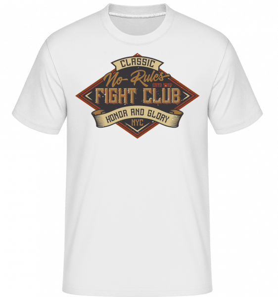 No Rules Fightclub -  Shirtinator Men's T-Shirt - White - Front