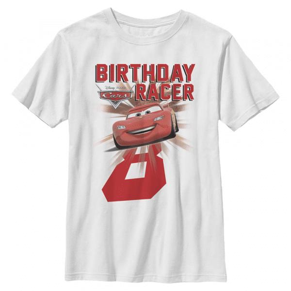 Cars Birthday Group Shot - Pixar Cars 2 - Kids T-Shirt - White - Front