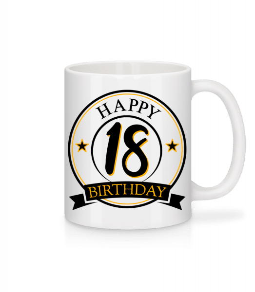 Happy Birthday 18 - Mug - White - Vorn
