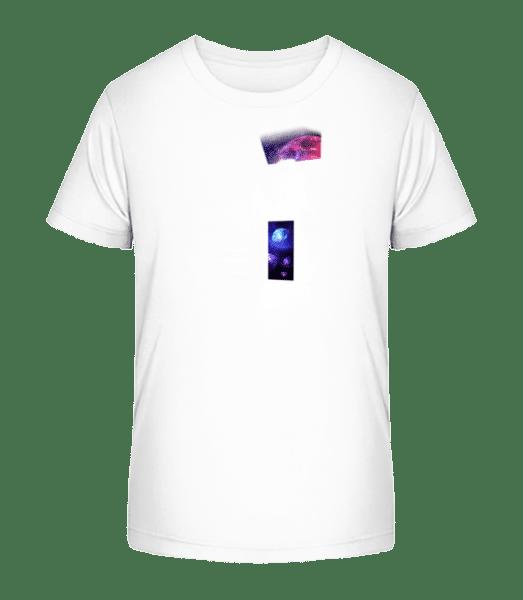 Weltall Haus - Kinder Premium Bio T-Shirt - Weiß - Vorn