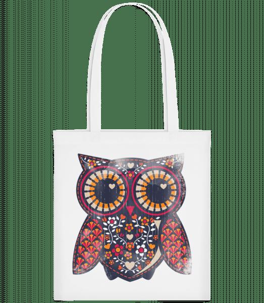 Art Owl - Carrier Bag - White - Vorn