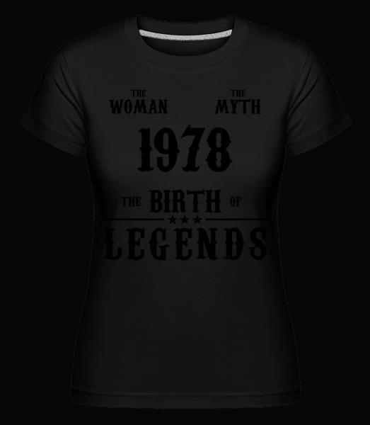 Mýtus Žena 1968 -  Shirtinator tričko pre dámy - Čierna - Predné