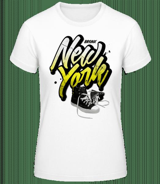Bronx New York - Women's Basic T-Shirt - White - Vorn