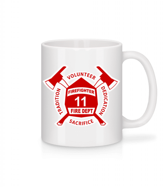 Firefighter Fire Dept - Mug - White - Vorn