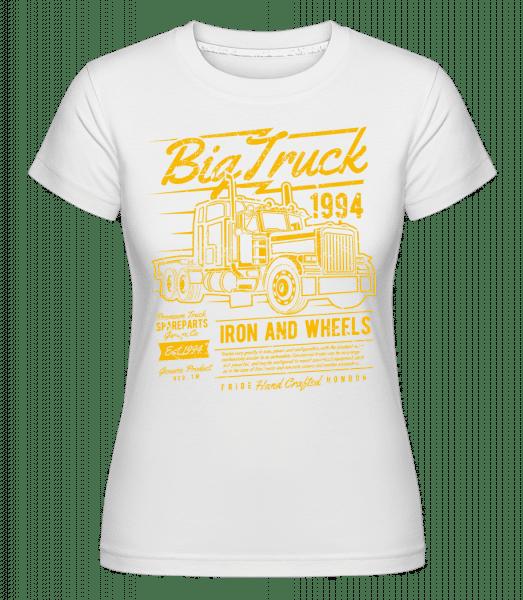 Big Truck 2 -  Shirtinator Women's T-Shirt - White - Vorn