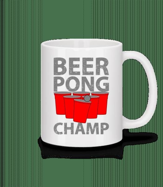 Beer Pong Champ - Tasse - Weiß - Vorn