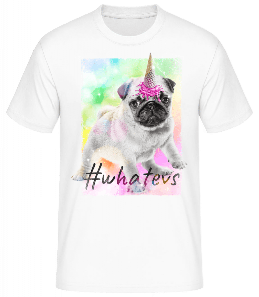Whatevs - Basic T-Shirt - White - Vorn