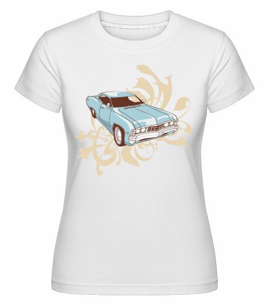 Car Comic -  Shirtinator Women's T-Shirt - White - Vorn