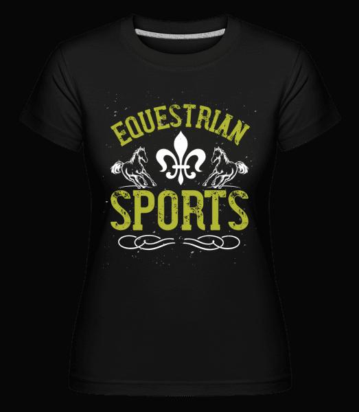 Equestrian Sports -  Shirtinator Women's T-Shirt - Black - Front