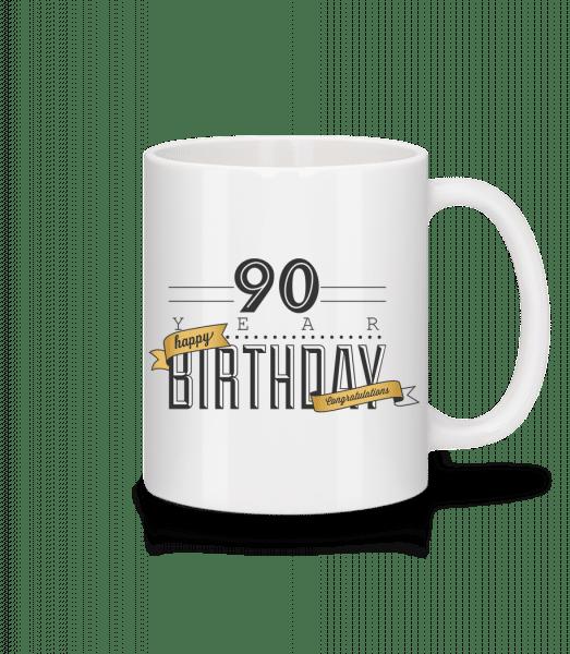 90 Birthday Sign - Mug - White - Vorn
