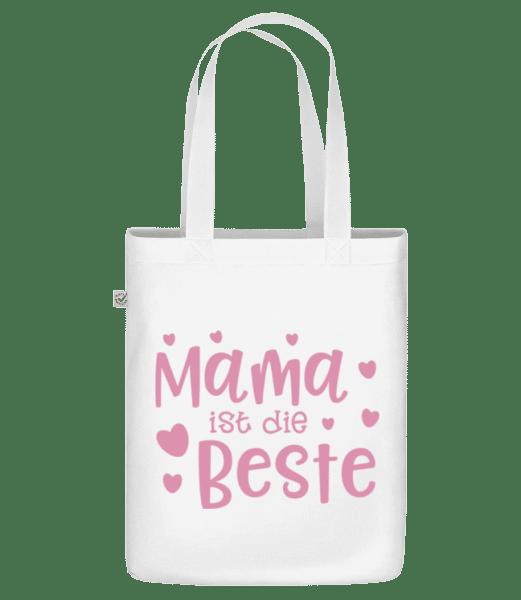 Mama Ist Die Beste - Bio Tasche - Weiß - Vorn