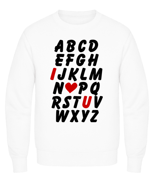 Love Alphabet - Men's Sweatshirt AWDis - White - Front
