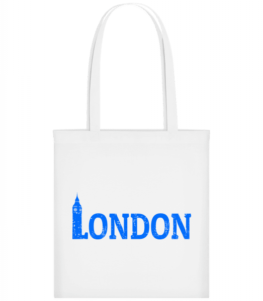 London UK - Carrier Bag - White - Vorn