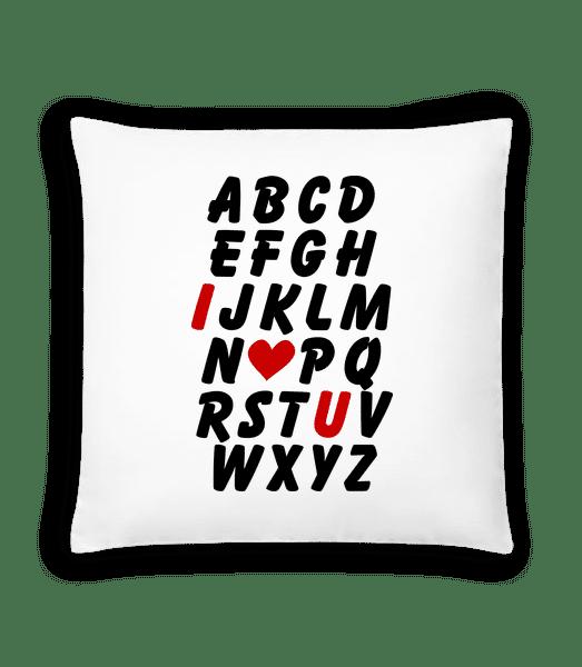 Love Alphabet - Cushion - White - Front