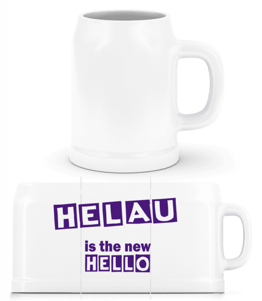 Helau Is The New Hello - Beer Mug - White - Front