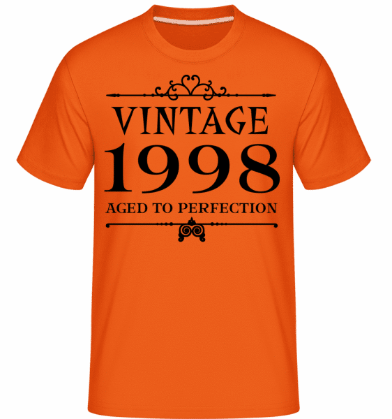 Vintage 1998 Perfection -  Shirtinator Men's T-Shirt - Orange - Vorn