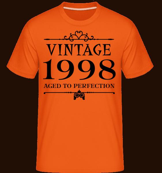 Vintage 1998 Perfection -  Shirtinator tričko pro pány - Oranžová - Napřed