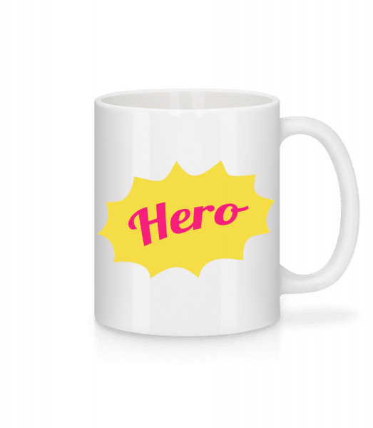 Hero Icon - Mug - White - Front
