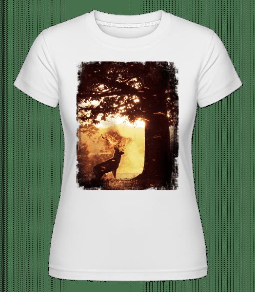Sun Deer -  Shirtinator Women's T-Shirt - White - Vorn
