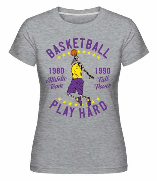 Play Hard -  Shirtinator Women's T-Shirt - Heather grey - Vorn