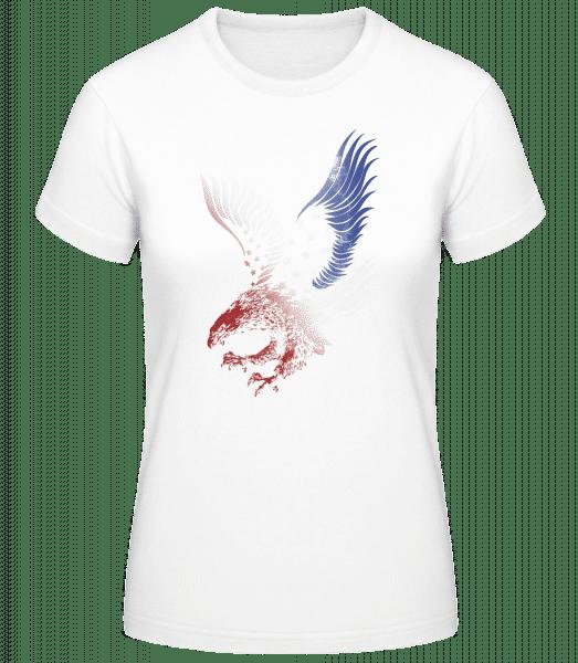 Amerikanischer Adler - Basic T-Shirt - Bílá - Napřed