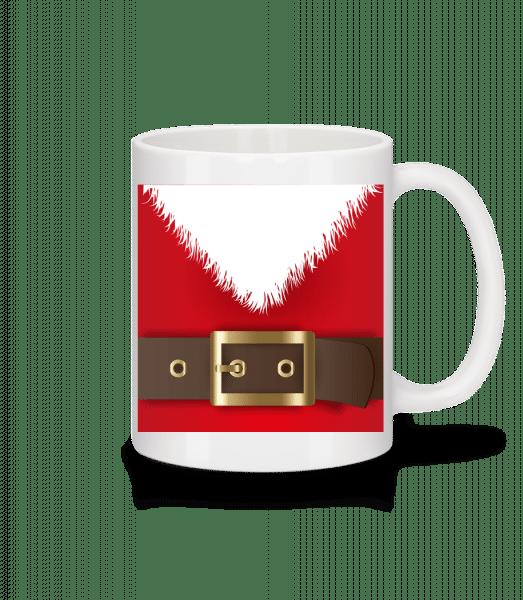 Weihnachtsmann Gürtel - Tasse - Weiß - Vorn