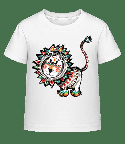 Indian Lion - Kid's Shirtinator T-Shirt - White - Vorn