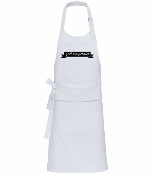 Grill Competition Sign - Professional Apron - White - Vorn