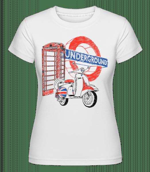 London Underground -  Shirtinator Women's T-Shirt - White - Vorn