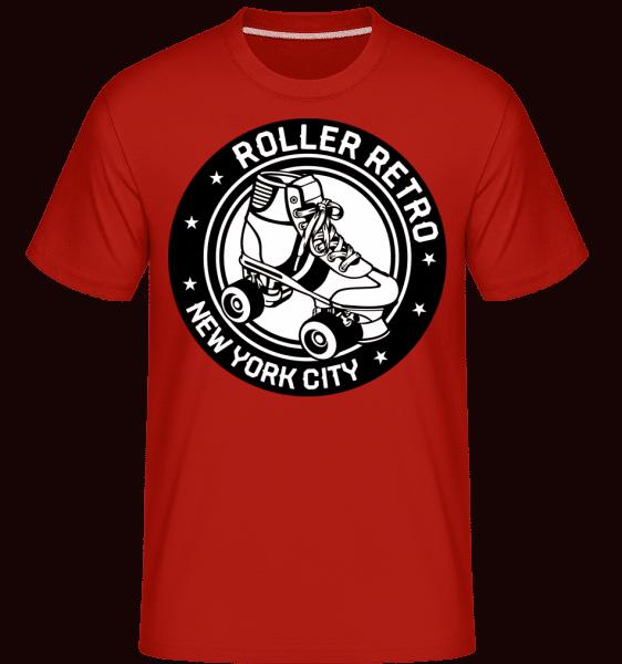 Roller Blade Logo -  Shirtinator tričko pro pány - Červená - Napřed