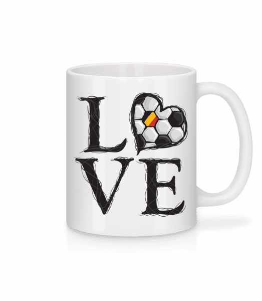 Football Love Belgium - Mug - White - Vorn