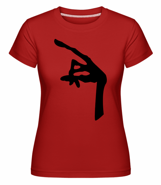 Alien Hand - Shirtinator Frauen T-Shirt - Rot - Vorn