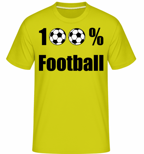 100 % Football -  Shirtinator Men's T-Shirt - Lime - Vorn