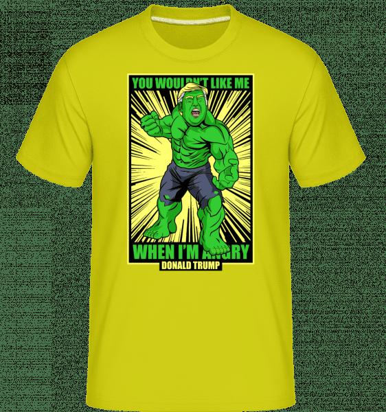Trump Hulk -  Shirtinator Men's T-Shirt - Lime - Vorn