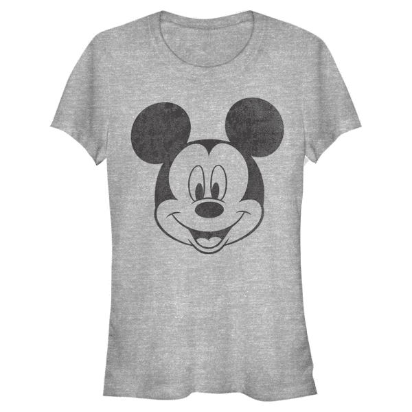 Mickey Face Mickey Mouse - Disney - Women's T-Shirt - Heather grey - Front