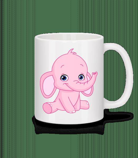 Éléphant Comic - Mug en céramique blanc - Blanc - Devant