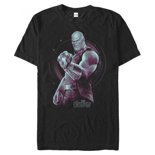 Thanos the Mad Titan - Marvel Avengers Infinity War - Men's T-Shirt - Black - Front
