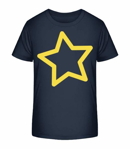 Star - Detské Premium Bio tričko - Namořnická modrá - Napřed