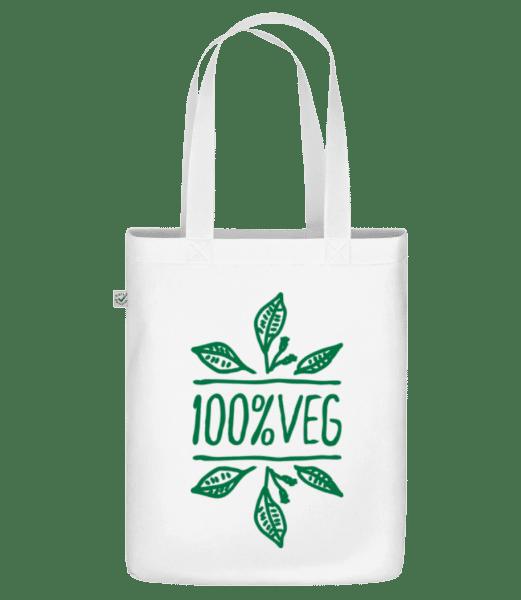 100% Veg - Bio Tasche - Weiß - Vorn