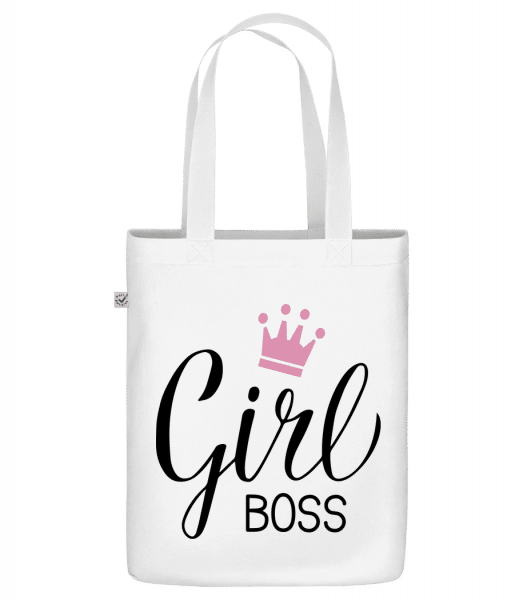 "Girl Boss - Organic ""Earth Positive"" tote bag - White - Vorn"